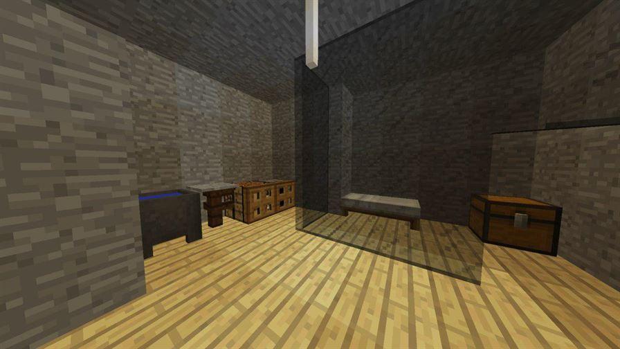 Комната в бункере для Minecraft Pocket Edition