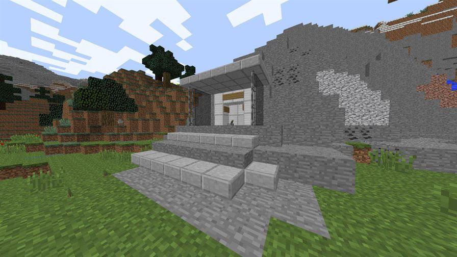 Главный вход в бункер для Minecraft Pocket Edition